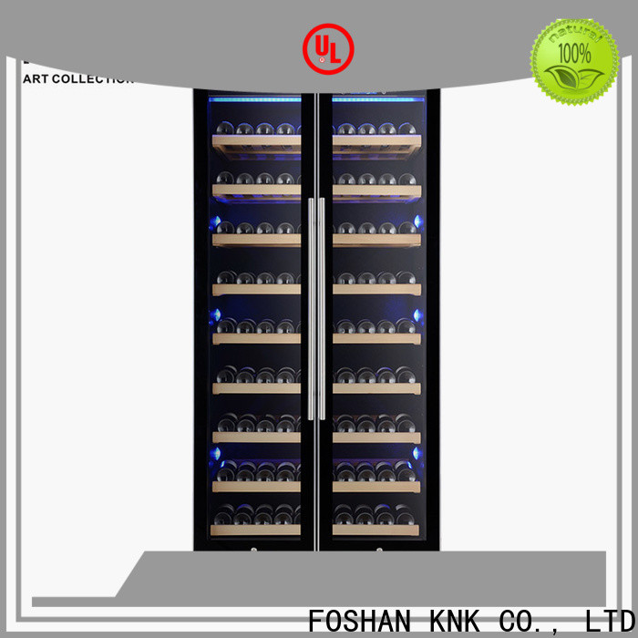 KNK wine chiller fridge factory for exhibition